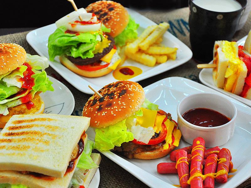 台南早午餐喜得炭火燒三明治